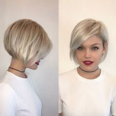 2019 Short bob hairstyles-trendy celebrities look! donnot miss the look Trendy 2019 Short bob hairst Bob Haircuts For Women, Round Face Haircuts, Short Bob Haircuts, Hairstyles For Round Faces, Short Hairstyles For Women, Haircut Short, Modern Bob Hairstyles, Angled Bob Hairstyles, Blonde Bob Hairstyles