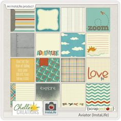 Free Aviator Instalife Journal Cards from Chelle's Creations {on Facebook}