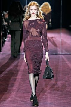 Good. Fashion. A body-con dress from Gucci, Fall 2012. www.glamourmag.com