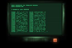 The same hacker simulator that appears in Fallout 3.  See comments: http://kotaku.com/5951425/get-all-the-fallout-3-terminal-hacking-action-you-want-when-you-want-it