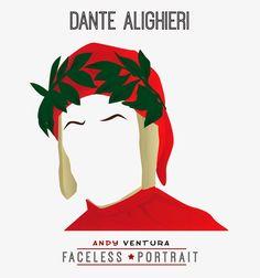 Le vignette di Andy Ventura: FACELESS PORTRAIT n. 154 -Dante Alighieri-