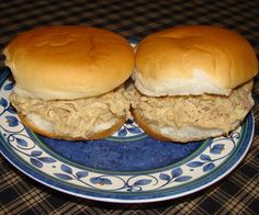 Here is a very quick and easy recipe for shredded chicken sandwiches. These sandwiches are very popular in this area (Ohio). You will find them being served at all kinds of gatherings, from parties to potlucks and they are sold at most local ice cream shops. Lots of families have their own secret shredded chicken recipes. Some cooks insist on cooking and deboning a whole chicken then adding fillers from breadcrumbs to crackers. This recipe requires only canned chicken, cream of chicken…