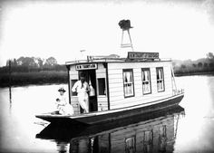 houseboat images | Henry Taunt and a woman, most likely his wife, in their riverboat ...