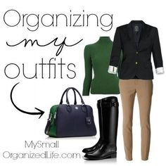 Organizing My Outfits | My Small Organized Life.com