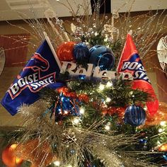 Boise State Broncos Christmas tree! Photo from the Instacanvas gallery of solitary_bibliophile. Card prints starting at $3.95 - Photo take by me at The Festival of Trees, Boise, Idaho. 2012.