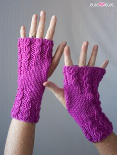 Knitting Pattern for Cable Wrist Warmers - #ad Love the cable design on cuffs and fingers of these fingerless mitts. tba twisty mitts