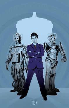Doctor Who - Tenth Doctor David Tennant and Cybermen