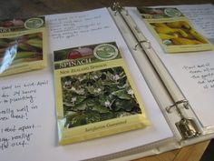 how to create a garden binder. i have a journal, but i like the scrapbooking concept of this. could add photos, magazine pages, etc.