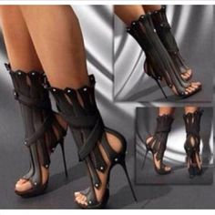 Women-s-Tassels-High-Heel-Stilettos-Roma-Open-Toe-Sexy-Ankle-Boots-Shoes-Sandals