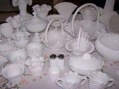 Fenton Hobnail Milk Glass Collection