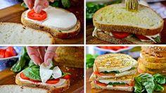 sandwich mozzarella grillée
