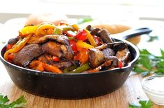 Check out this list of the best vegan fajita recipes from around the web. Including portobello fajitas, poblano fajitas, and more. Vegan Fajita Recipes, Vegan Fajitas, Vegetarian Recipes Dinner, Curry Recipes, Vegan Dinners, Mexican Food Recipes, Whole Food Recipes, Healthy Recipes, Vegetarian Options