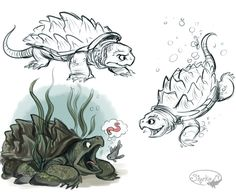 Alligator Snapping Turtle by sharkie19 on DeviantArt