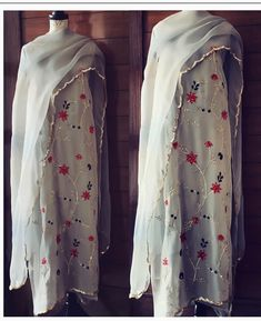 Latest Punjabi Suits Design, Indian Designer Suits, Embroidery Suits Punjabi, Embroidery Suits Design, Hand Embroidery, Indian Party Wear, Indian Wear, Customised Clothes, Dress Design Sketches