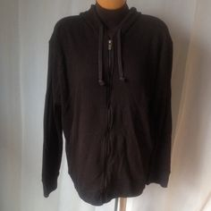 Michael Kors Zip Up Jacket Hoodie. Black, zips up on front. Pre Loved but in Great Condition. 100% Cotton Michael Kors Tops Sweatshirts & Hoodies