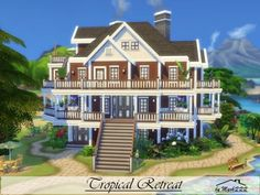 The Sims Resource: Tropical Retreat house by MychQQQ • Sims 4 Downloads