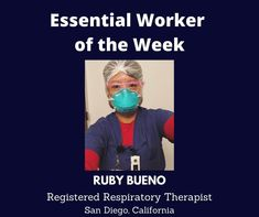 Essential Worker of the Week: Today, I'd like to acknowledge Ruby Bueno, a Registered Respiratory Therapist from San Diego, California. We are grateful for you. Thank you for your service! Unsung Heroes by Benita Charles is an inspirational, heartfelt song full of positive vibes. The uplifting message of hope is a tribute to all the essential/frontline workers who are making a difference for the nation during the Covid-19 pandemic. We are grateful for their service!