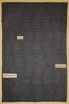 Fate | Black Out Poetry