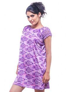 ee47d602d7 Fasense Exclusive Purple Hosiery Short Nighty-free size - Sleepwear -  Lingerie   Nightwear  Purple  Hosiery  Short  ShortNighty  FreeSize   Sleepwear