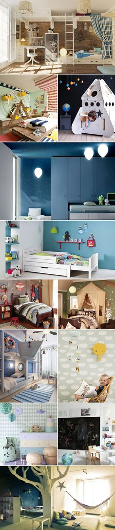 22 Lovely Children's Room Ideas Many parents find it challenging to design and decorate the rooms of Rooms Decoration, Room Deco, Kid Spaces, Kids Decor, Boy Room, Kids Bedroom, Bedroom Ideas, Room Inspiration, Playroom
