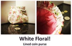 White Floral! Coin Purses, Coins, Floral, Collection, Coin Wallet, Coining, Rooms, Coin Purse, Flowers
