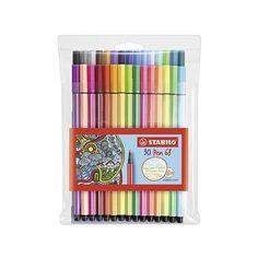 Japanese School Supplies, Cute School Supplies, Stabilo Pen, Stabilo Boss, Marker Pen, Permanent Marker, Stabilo Point 68, Felt Tip Markers, Plastic