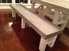 Farm Table Bench Custom by FiveSixteenOriginals on Etsy