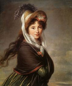 Elisabeth Vigee-Lebrun, Portrait of a Young Lady, 1797.  I believe the young lady lives at the Boston MFA.