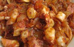 Pulpo en fritada | Alcoiama Blog: Cositas de andar por casa: RECETAS DE COCINA, FOTOS. Marmite, Sauce Tomate, Macaroni And Cheese, Seafood, Meat, Chicken, Ethnic Recipes, Blog, Eating Clean