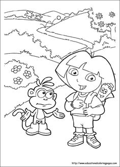 Dora The Explorer Online Coloring Pages Printable Book For Kids 156