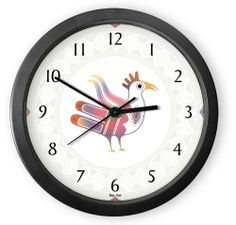 Adobe Chili Round Acrylic Wall Clock From Our Kitchen