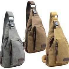 Tas pria Mode Vintage Retro Militer Shoulder Bag