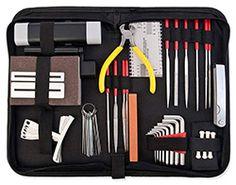 Suitable for guitar, bass, banjo and mandolin. 1 Set Guitar Care Kit Guitar Repair Maintenance Tools for Luthier Guitarist. Buy Guitar, Guitar Kits, Cool Guitar, Banjo, Ukulele, K Om, Hobby Tools, Tool Kit, Acoustic