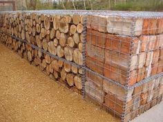 brick gabion walls - Pesquisa Google