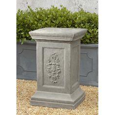Campania International, Inc Arno Pedestal Color: Aged Limestone