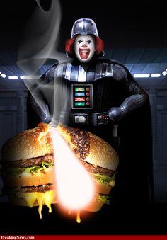 Ronald McDonald as Darth Vader