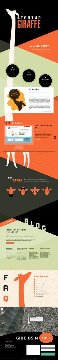 Unique Web Design, Startup Giraffe #WebDesign #Design (http://www.pinterest.com/aldenchong/)