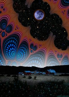 Nightfall at the Edge of the Universe  Only a few of these are still available! Limited-Edition printing of 20 prints. 24 x 35 inches. Print is signed by Larry Carlson on the front. Artwork is certified archival. Buy now at : www.larrycarlson.bigcartel.com