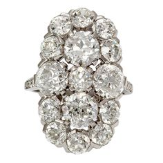 CARTIER 1930's Diamond Cluster Ring