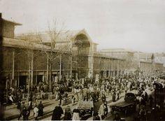 Marché des Halles, pavillon de Baltard vers 1900 Anonyme