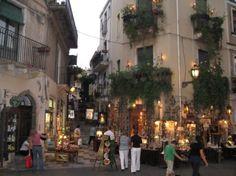 Taormina Corso Umberto Shopping  on Tour of   Sicily, Italy