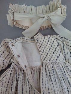 Платье и боннет для куклы / Антикварные куклы, реплики / Шопик. Продать купить куклу / Бэйбики. Куклы фото. Одежда для кукол Girls Dresses Sewing, Sewing Doll Clothes, Frocks For Girls, Wedding Dresses For Girls, Little Girl Dresses, Girls Fashion Clothes, Toddler Fashion, Kids Fashion, Doll Dress Patterns