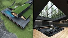 "The Mashhad-based architect Reza Mohtashami has designed ""Black villa"" a contemporary single-family home to be built in Harriman State Park, New York. This family home is planned to be built in Harriman State Park, the second largest state park in New York State in Rockland and Orange counties 30 miles north of New York City, that is a haven for hikers with over 200 miles of hiking trails. The Black Villa offers stunning interior designs among various features, the villa most noticeably… Australian Architecture, Amazing Architecture, Contemporary Architecture, Architecture Design, Park In New York, New York City, Harriman State Park, California Architecture, Parametric Architecture"