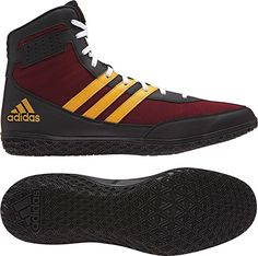 335ab30fd68a06 ADIDAS MAT WIZARD WRESTLING SHOES - RED YELLOW