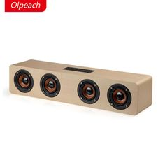 [ 50% Off ] Olpeach Hi-fi Bluetooth Speaker Sound System 12W USB Charging Wood Speaker Portable Wireless Party Speaker for Home Outdoor