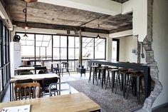 Brick Interior, Cafe Interior, Cafe Restaurant, Restaurant Design, Cafe Design, House Design, Cafe House, Interior Decorating, Interior Design