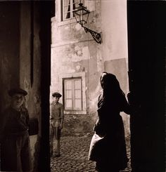 Medieval street in Alfama, Lisbon, Portugal, by Toni Frissell 1946