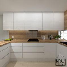 Project scope: kitchen 2 versions of KRU Design Kitchen Room Design, Kitchen Cabinet Design, Modern Kitchen Design, Home Decor Kitchen, Kitchen Living, Interior Design Kitchen, Home Kitchens, Kitchen Ideas, Modern Kitchen Cabinets
