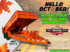 Two brands and lots of different trailer choices ensures your fall job gets done easily. Dump Trailers, Welding, Choices, Fall, Trailers, Autumn, Dump Trucks, Soldering, Welding Projects