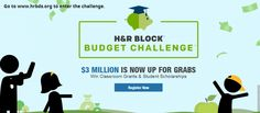 H&R Block Budget Challenge - such a great idea! Teaching kids to budget is so important, and they also have a chance to win scholarships!